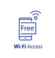 free wi-fi access wireless internet vector image