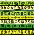 green and yellow tribal ornaments vector image vector image