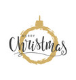 handwritten lettering of merry christmas vector image