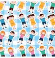 happy cartoon kids background vector image vector image
