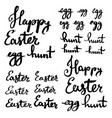 happy easter egg hunt strokes written in thick vector image vector image