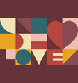 heart and love design valentines day card vector image vector image