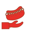 hot dog in the hand icon image vector image