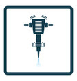 icon of construction jackhammer vector image vector image