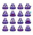 little cute funny violet alien vector image vector image