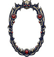 magic horror oval frame vector image