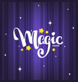 magic show letteing composition on magic vector image vector image