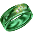 malachite ring vector image vector image