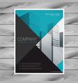 Minimal blue professional brochure template design