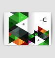modern business brochure or leaflet a4 cover vector image vector image