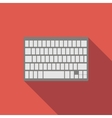 Modern keyboard flat icon vector image