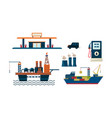 oil industry business concept flat vecroe design vector image