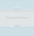 Paper lace frame with seamless borders over vector image vector image