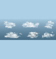 realistic white clouds set collection of vector image vector image