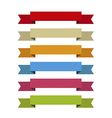 Ribbons set for write inside differents colors vector image
