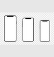 set newly released iphone 12 vector image
