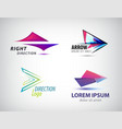 set of abstract arrow icon logos design vector image vector image