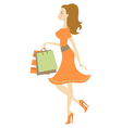 Shopping beauty vector image vector image