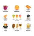simple set of 3d isometric icons vector image vector image