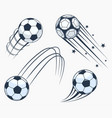 soccer football moving swoosh elements dynamic vector image vector image