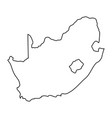 south africa map of black contour curves of vector image vector image