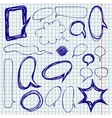 Speech Bubbles Doodles on Notepaper vector image vector image