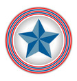 symbol of america star vector image