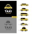taxi service logo set vector image