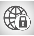 technology globe protection lock media graphic vector image vector image