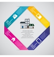 Town infographic template business concept vector image vector image