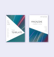 triangle cover design template set red white blue vector image