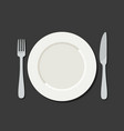 utensil in flat style vector image