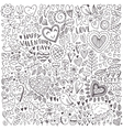 Valentines day sketch pattern vector image