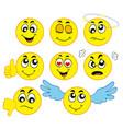 various smileys 1 vector image