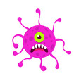 virus cartoon character design vector image