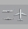 white airplane mock up isolated aircraft vector image