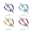 shield 3d glossy logo vector image