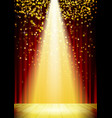 Stage Lighting Background with Spot Light Effects vector image