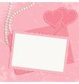 Retro pink framework vector image
