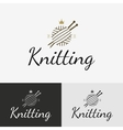 Hand knit logo badge or label vector image