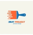 Abstract painting brush Icon emblem logo vector image