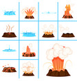 hot lava and clear water splashes vector image