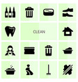 14 clean icons vector image vector image