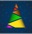 abstract colorful christmas tree of polygons vector image vector image