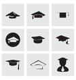 academic icon set vector image