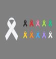 awareness ribbons various colors vector image