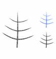 bare tree mosaic icon circles vector image vector image