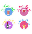 beverages cocktails set vector image vector image
