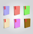 Blank book isolated mockup to replace your design vector image vector image