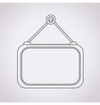 blank label icon vector image vector image